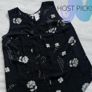 🔹HP🔹Maurices 2X V neck floral chiffon sleeveless